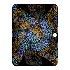 Multi Color Tile Twirl Octagon Samsung Galaxy Tab 4 (10 1 ) Hardshell Case