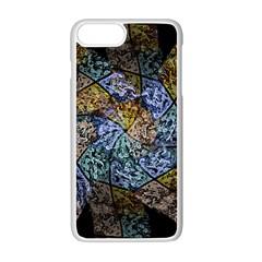 Multi Color Tile Twirl Octagon Apple Iphone 7 Plus White Seamless Case