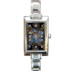 Multi Color Tile Twirl Octagon Rectangle Italian Charm Watch by Nexatart