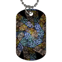 Multi Color Tile Twirl Octagon Dog Tag (two Sides)