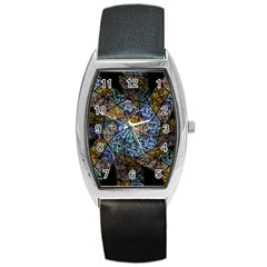 Multi Color Tile Twirl Octagon Barrel Style Metal Watch