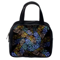 Multi Color Tile Twirl Octagon Classic Handbags (one Side)
