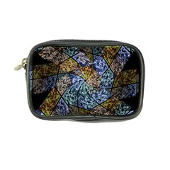 Multi Color Tile Twirl Octagon Coin Purse