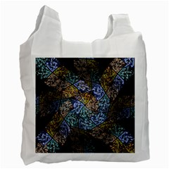 Multi Color Tile Twirl Octagon Recycle Bag (two Side)