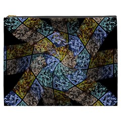 Multi Color Tile Twirl Octagon Cosmetic Bag (xxxl)  by Nexatart