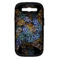 Multi Color Tile Twirl Octagon Samsung Galaxy S Iii Hardshell Case (pc+silicone)