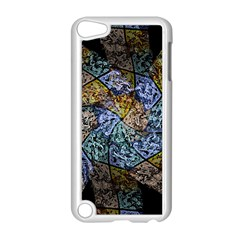 Multi Color Tile Twirl Octagon Apple Ipod Touch 5 Case (white)