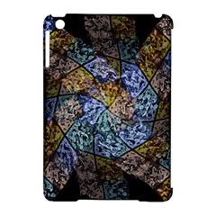 Multi Color Tile Twirl Octagon Apple Ipad Mini Hardshell Case (compatible With Smart Cover)
