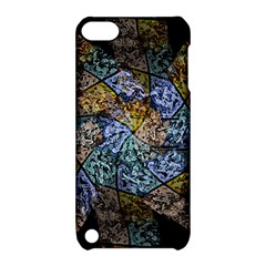Multi Color Tile Twirl Octagon Apple Ipod Touch 5 Hardshell Case With Stand