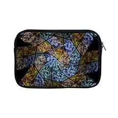 Multi Color Tile Twirl Octagon Apple Ipad Mini Zipper Cases