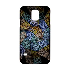 Multi Color Tile Twirl Octagon Samsung Galaxy S5 Hardshell Case  by Nexatart