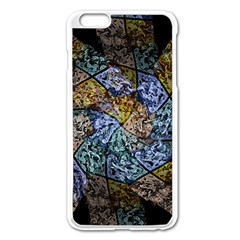Multi Color Tile Twirl Octagon Apple Iphone 6 Plus/6s Plus Enamel White Case