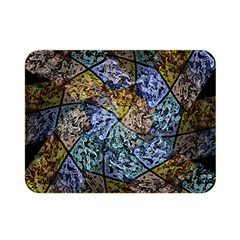 Multi Color Tile Twirl Octagon Double Sided Flano Blanket (mini)  by Nexatart
