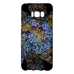 Multi Color Tile Twirl Octagon Samsung Galaxy S8 Plus Hardshell Case  by Nexatart