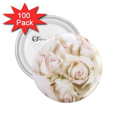 Pastel Roses Antique Vintage 2 25  Buttons (100 Pack)  by Nexatart