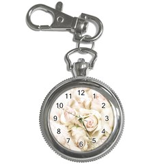 Pastel Roses Antique Vintage Key Chain Watches