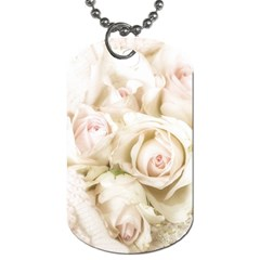 Pastel Roses Antique Vintage Dog Tag (two Sides) by Nexatart