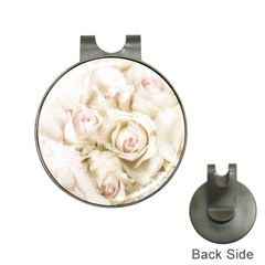 Pastel Roses Antique Vintage Hat Clips With Golf Markers