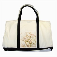 Pastel Roses Antique Vintage Two Tone Tote Bag