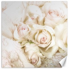 Pastel Roses Antique Vintage Canvas 16  X 16