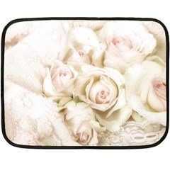 Pastel Roses Antique Vintage Fleece Blanket (mini)