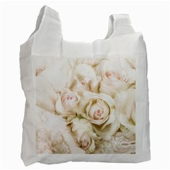 Pastel Roses Antique Vintage Recycle Bag (two Side)