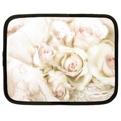 Pastel Roses Antique Vintage Netbook Case (xl)