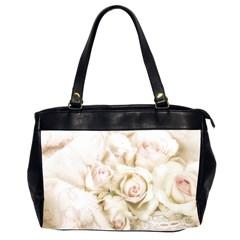 Pastel Roses Antique Vintage Office Handbags (2 Sides)  by Nexatart