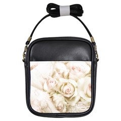 Pastel Roses Antique Vintage Girls Sling Bags by Nexatart