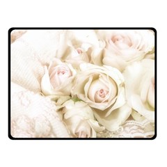 Pastel Roses Antique Vintage Fleece Blanket (small)
