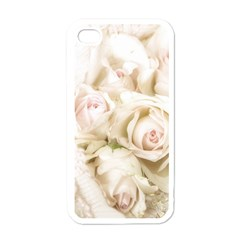 Pastel Roses Antique Vintage Apple Iphone 4 Case (white) by Nexatart