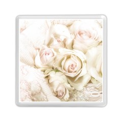 Pastel Roses Antique Vintage Memory Card Reader (square)