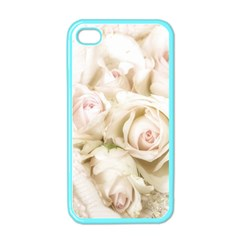 Pastel Roses Antique Vintage Apple Iphone 4 Case (color) by Nexatart