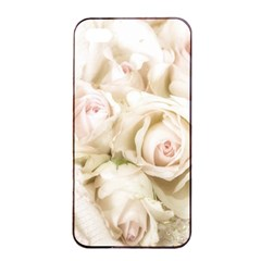 Pastel Roses Antique Vintage Apple Iphone 4/4s Seamless Case (black) by Nexatart