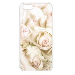 Pastel Roses Antique Vintage Apple Iphone 5 Seamless Case (white)