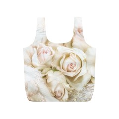 Pastel Roses Antique Vintage Full Print Recycle Bags (s)  by Nexatart