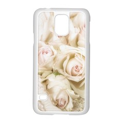 Pastel Roses Antique Vintage Samsung Galaxy S5 Case (white)