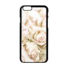 Pastel Roses Antique Vintage Apple Iphone 6/6s Black Enamel Case by Nexatart