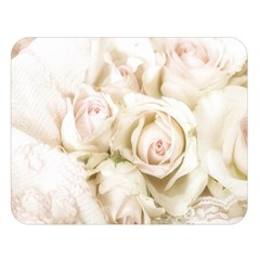 Pastel Roses Antique Vintage Double Sided Flano Blanket (large)