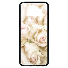 Pastel Roses Antique Vintage Samsung Galaxy S8 Black Seamless Case