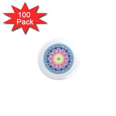 Mandala Universe Energy Om 1  Mini Magnets (100 Pack)  by Nexatart