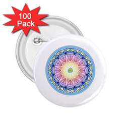 Mandala Universe Energy Om 2 25  Buttons (100 Pack)  by Nexatart