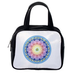 Mandala Universe Energy Om Classic Handbags (one Side)