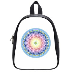 Mandala Universe Energy Om School Bag (small) by Nexatart