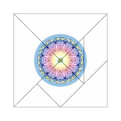 Mandala Universe Energy Om Acrylic Tangram Puzzle (6  X 6 )