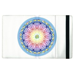 Mandala Universe Energy Om Apple Ipad 3/4 Flip Case by Nexatart