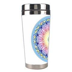 Mandala Universe Energy Om Stainless Steel Travel Tumblers by Nexatart