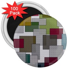 Decor Painting Design Texture 3  Magnets (100 Pack)