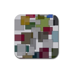 Decor Painting Design Texture Rubber Square Coaster (4 Pack)  by Nexatart