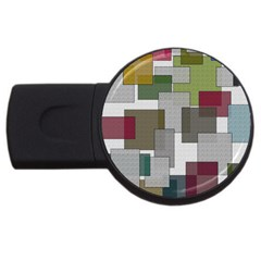 Decor Painting Design Texture Usb Flash Drive Round (2 Gb) by Nexatart